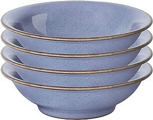 Denby 美国遗产 Fountain 菜盘 Set of 4 Small Shallow Bowls