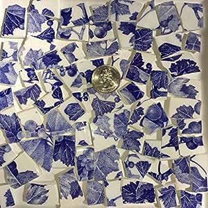 马赛克瓷砖 ART Supply 适用于马赛克 & 工艺品 ~ 经典蓝色和白色中国拼贴 (T # 610)