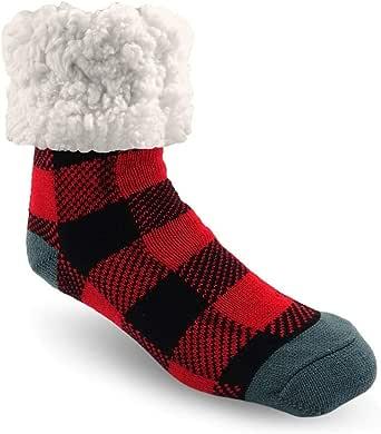 Pudus 经典拖鞋袜 儿童均码 Lumberjack Red Large