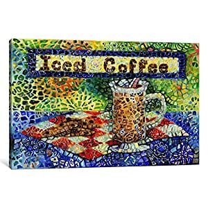 iCanvasART 9237-1PC3-12x8 Iced Coffee Canvas Print by Charlsie Kelly, 0.75 by 12 by 8-Inch