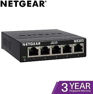 NETGEAR 千兆金属以太网桌面/壁挂式交换机GS305-300UKS 5 Port (Version 2) 5 Port Gigabit (V2)