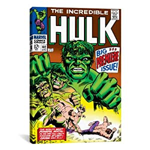 iCanvasART Marvel Comic Book Hulk Issue Cover #102 by Marvel Comics Canvas Art Print, 26 by 18-Inch