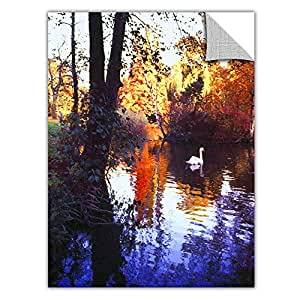 ArtWall Appealz Dean Uhlinger 'Hamm Park' Removable Graphic Wall Art, 14 by 18-Inch