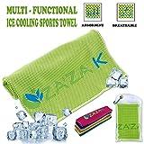 ZA'ZA K 凉爽超细纤维毛巾可即时缓解凉爽,颈部凉爽毛巾,女士运动毛巾,男士,儿童,健身毛巾,瑜伽,健身,普拉提,跑步,旅行,露营,高尔夫