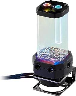 Corsair 海盗船 Hydro X 系列,XD5 RGB 泵/储水罐组合(高性能 Xylem D5 PWM 泵,PWM 控制,集成填料端口,循环温度监控,可定制 RGB 照明),黑色