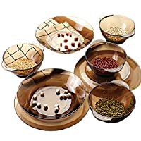 DURALEX 多莱斯碗盘餐具四人8件套 咖啡色