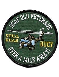 Deaf Old Veterans Huey USMC 贴片 - 远离