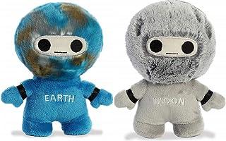 Aurora 星系毛绒玩具套装,地球和月亮