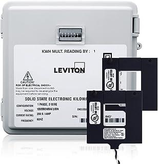 Leviton 户外表面安装机械计数器 120/208/240V 2P3W 100A 带 2 个分芯 CTs 迷你仪表套件 200-Amp MO240-2W