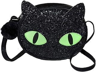 Cat & Jack 女孩万圣节 55.88 厘米猫斜挎包钱包黑色