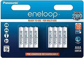 Panasonic 松下 Eneloop AAA 微型 750mAh Eneloop NiMH 即用型可充電電池 BK-4MCCE(8節經典款電池)
