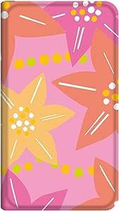 智能手机壳 手册式 对应全部机型 薄型印刷手册 cw-161top 套 手册 花朵图案 超薄 轻量 UV印刷 壳WN-PR003388-M AQUOS Compact SH-02H 图案D