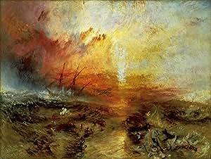 Get Custom Art Joseph Mallord William Turner - The Slave Ship 非帆布海报印刷品 18x24 inch JosephMWT-TheSlaveShip-18x24-PP