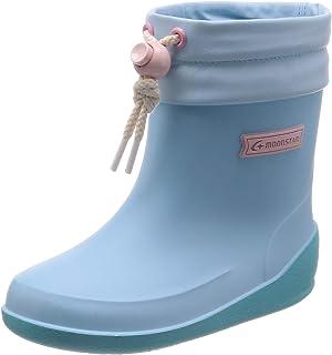 [月星]日本制造 雨靴 防滑鞋底 宽松 13~19cm 儿童 RB B02 萨克斯 18.0 cm 2E