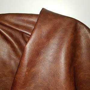 NAT 皮革,棕色褐色 Cognac Weekender 双色软内饰粗革牛皮真皮隐藏皮肤 30.5 x 60.96 平方英尺 棕色 40 sq.ft. cuoio