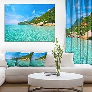 "Sky Mountain 和水景观摄影油画印刷品 蓝色 40x30"" PT8172-40-30"