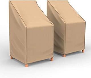 Budge P1A01TNNW2-2PK NeverWet Savanna 露台椅吧凳套(2 件装)防水,耐用,棕褐色