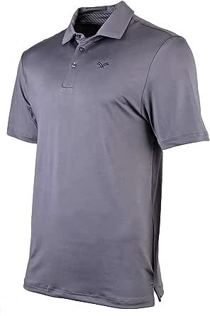 Urban Fox Golf Shirts 男式 - 短袖性能 Polo 衫,男式,混色,干爽,吸湿排汗 Charcoal Gray Small