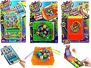 手指保龄球游戏便携式袖珍桌面游戏迷你(套装)JARU 出品。 经典玩具系列派对礼品玩具 | 商品 #3205- 3 Pack Assorted Games