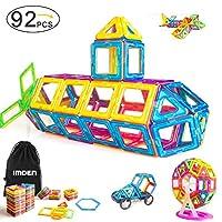 IMDEN 磁性积木,磁性建筑套装,磁性瓷砖,教育类玩具婴儿 / 儿童,92件