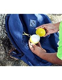 【应急雨衣】 户外便携雨衣球一次性雨衣野营钓鱼旅游应急雨披钥匙扣随身带(5件装颜色随机)