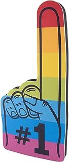 手指编号 1 通用,适合所有场合啦啦队绒球,多种令人兴奋的颜色。 运动员、本地体育活动、游戏、学校商业庆祝 Pom Poms 泡沫