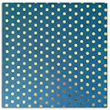 Toga prx220 Bombay Gold 1 张可回收纸蓝色圆点 38 x 56 x 0.1 厘米