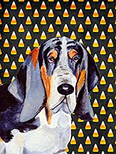 Basset Hound Candy Corn Halloween Portrait Flag 多色 小号