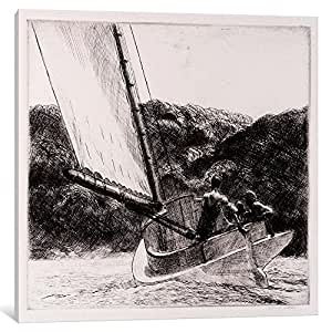 iCanvasART 13367-1PC6-18x18 The Cat Boat Canvas Print by Edward Hopper, 1.5 x 18 x 18-Inch