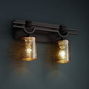 Justice Design Group FSN-8502-28-OPAL-CROM Fusion 系列菱形图案 3 灯浴杆