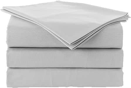 BEDIFY 600 支埃及棉超深口袋棉缎编织柔软奢华纯色床单套装 适合家居和*店 浅灰色 Californian King