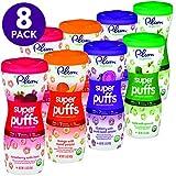 Plum Organics 超级泡芙,多种口味,每件1.5盎司(42g),8件装