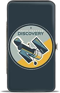 Buckle-Down 女式铰链钱包 - Shuttle Discovery Hubble 望远镜,多色,7 x 4 英寸