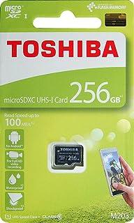 东芝 256GB M203 microSDXC UHS-I U1 卡 10 类 micro SD 卡 存储卡 100MB/s