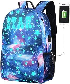 Sameno Galaxy 书包系列帆布 USB 书包青少年女孩儿童