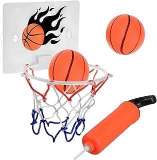 篮球框,卧室浴室厕所办公室桌面迷你篮球框套装适用于幼儿儿童儿童青少年男孩女孩派对游戏运动带球泵
