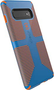 Speck Products CandyShell Grip Samsung Galaxy S10+ Case, Skydive Blue/Pumpkin 橙色