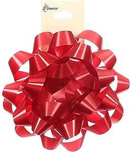 Berwick BLG1213 10.80 厘米豪华蝴蝶结花边缎带,红色