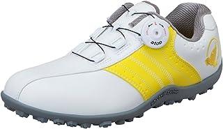 真间高尔夫 HONMA 女式 无钉钻石鞋 白色/黄色 23.5cm 3E SR-6601 原产国:中国 材料:鞋面(人造皮革),鞋底(合成橡胶)
