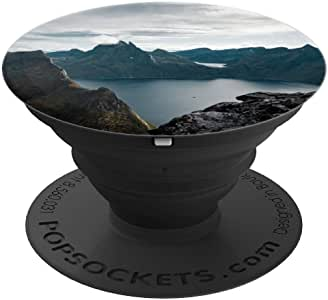 Norway Night Mountain - PopSockets 手机和平板电脑抓握支架260027  黑色