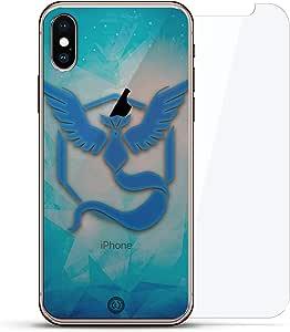 奢华隐形,酷炫设计,钢化玻璃背板,360 度保护贴膜,适用于 iPhone XS/XLUX-IXGL360-PGO2 FANDOM: POKEMON GO INSPIRED MYSTIC BLUE 透明