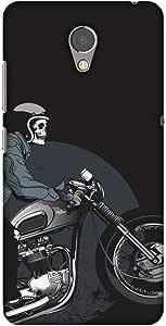 AMZER 纤薄款手工制作设计师印花硬质壳后盖与屏幕清洁套件皮肤 适用于联想 P2AMZ601040112072 Love for Motorcycles 2