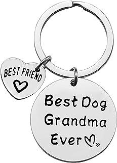有趣的狗主人礼物狗奶奶礼物钥匙扣爱狗人士首饰礼物宠物首饰送给爱狗人士的生日圣诞礼物不锈钢钥匙圈