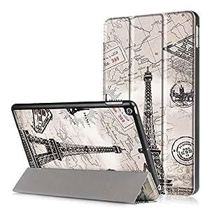 iPad 2017 保护壳,iPad 9.7 英寸保护壳,iPad 9.7 保护壳,iPad 9.7 保护壳,超薄保护壳带翻盖保护套[磁性闭合] 搭扣贴合保护套适用于 iPad 9.7 后盖#PC0066TY
