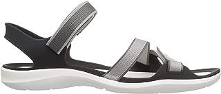 Crocs 女士 Swiftwater 织带凉鞋 珍珠白 4 M US Swiftwater Webbing Sandal W