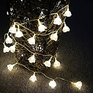E-Light Solar Christmas Lights 30 LED Warm White String Lights for Outdoor, Patio, Garden, Holiday, Party, Wedding