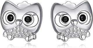 MEDWISE 可爱动物系列耳环女士女儿 925 纯银防*耳钉适用于敏感耳朵