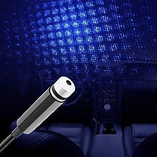 USB 汽车车顶星投影灯 LED,可调节浪漫银河柔性室内车灯,即插即用天花板装饰灯环境氛围适用于汽车天花板卧室派对(蓝色)