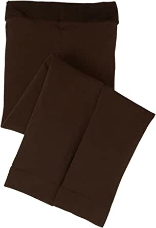 jefferies socks little girls' microfiber footless tight, chocolate, 2-4 岁