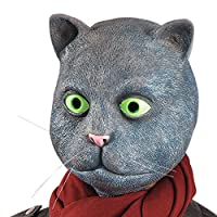Carnival 1452 Cat Toys Latex Mask with Exhaust, Grey